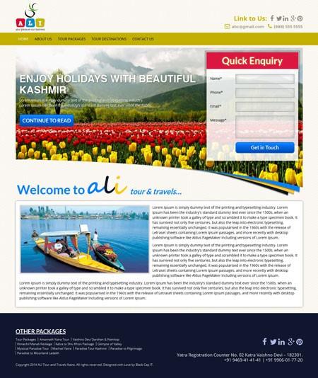 DUSRA Soft Travels Website  Project